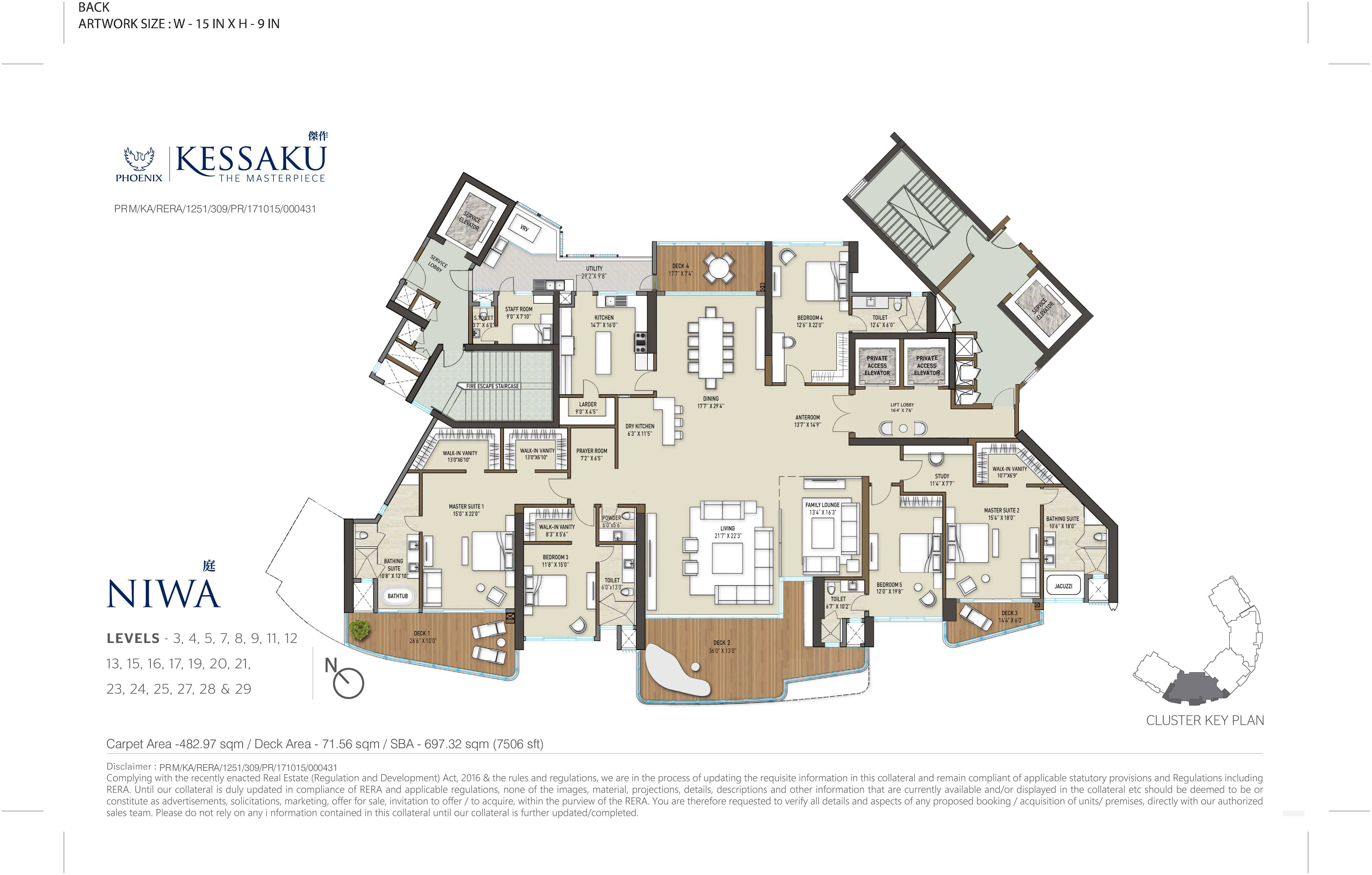 5 bhk ultra luxury flats in Bangalore